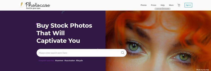 www.photocase.com homepage