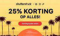 25% korting op abonnementen en afbeeldingspakketten van Shutterstock