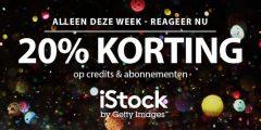 20% korting op alle iStock credits en beeldabonnementen!