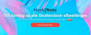 15% korting op abonnementen en afbeeldingspakketten van Shutterstock