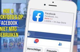 Hoe u stockfoto's op Facebook niet mag gebruiken